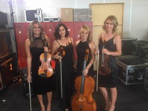 String Quartet backstage